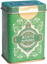 Leone Pastilles Peppermint Flavour Sweets In Retro Chic Tin 42g